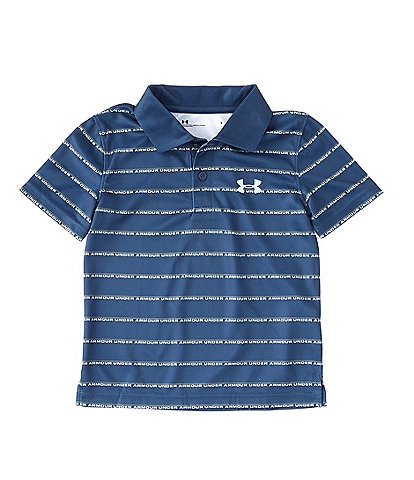 Under Armour Little Boys 2T-7 Short-Sleeve Match Play Wordmark Striped Polo Shirt