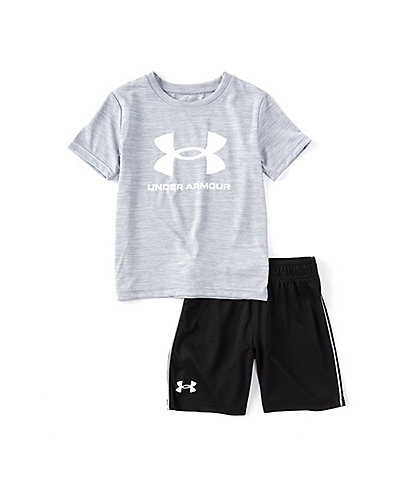 Under Armour Little Boys 2T-7 Short-Sleeve Twist Wordmark Logo Tee & Short Set