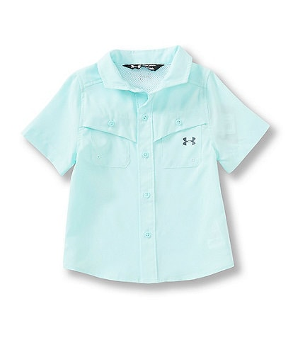 Under Armour Little Boys 2T-7 Short Sleeve UA Mesh Button-Front Fishing Shirt