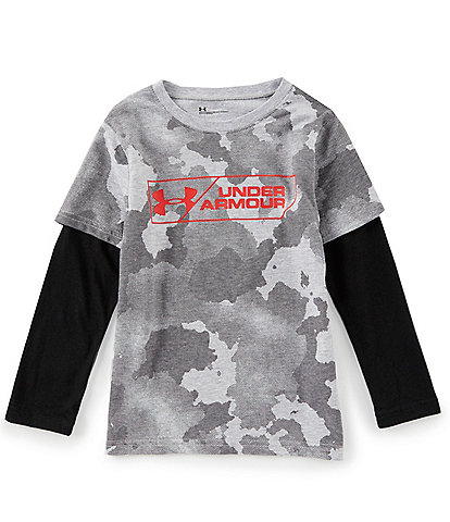Under Armour Little Boys 2T-7 Traverse Camouflage Boxed Two-Fer Tee