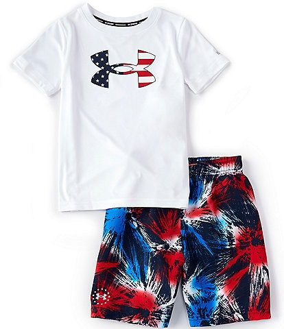 Under Armour Little Boys 2T-7 UA Americana Fireworks 2-Piece Set