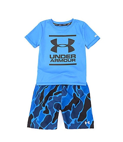 Under Armour Little Boys 2T-7 UA Diverge Volley 2-Piece Swim Set