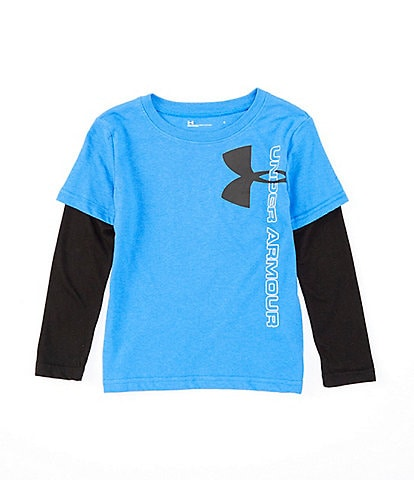 Under Armour Little Boys 2T-7 Vertical Branded Two-Fer Tee