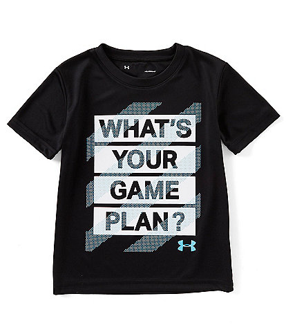 Under Armour Little Boys 2T-7 What's Your Game Plan Screen-Print Tee