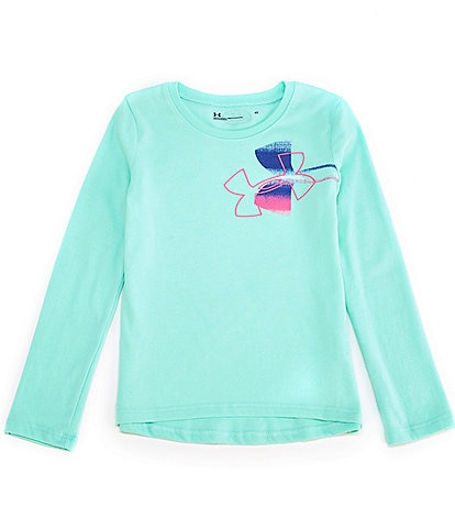 Under Armour Little Girls 2T-6X Long Sleeve Icon Tee