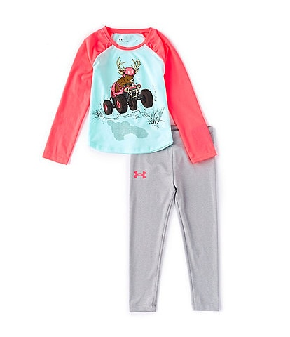 Under Armour Little Girls 2T-6X Long-Sleeve Deer Buggy Tee & Leggings Set