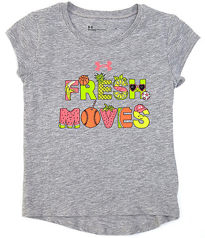 Under Armour Little Girls 2T-6X Short-Sleeve Fresh Moves Graphic Tee