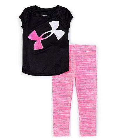 Under Armour Little Girls 2T-6X Short-Sleeve UA Banner Logo Tee & Twist Leggings Set