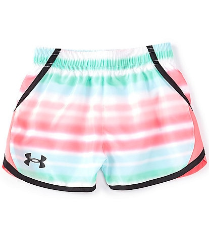 Under Armour Little Girls 2T-6X UA Airbrush Stripe Fly By Shorts