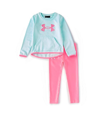 Under Armour Little Girls 2T-6X UA Shine Logo Pullover & Shine Leggings Set
