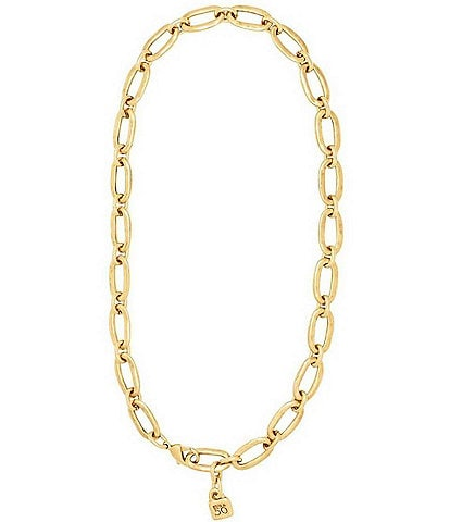 Uno De 50 Link Chain 18KT Gold Overlay Necklace
