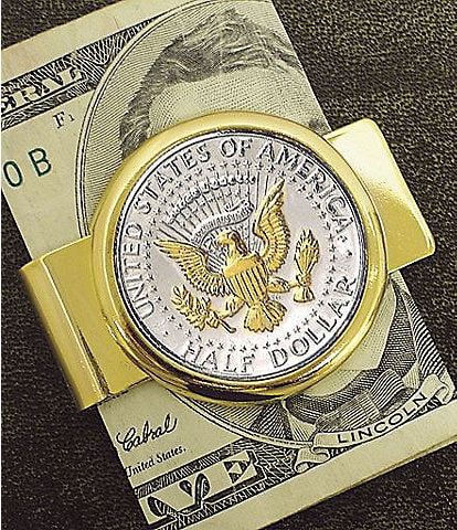 UPM United Precious Metals Presidential Seal JFK Half Dollar Money Clip