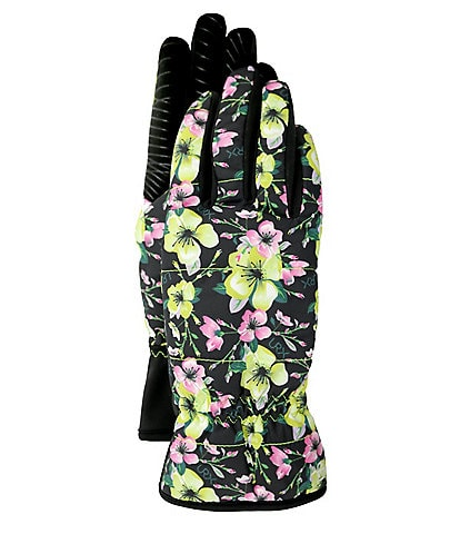 UR Ladies' Floral Quilted All Weather Gloves