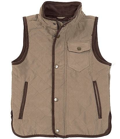 Urban Republic Big Boys 8-20 Quilted Snap Front Vest