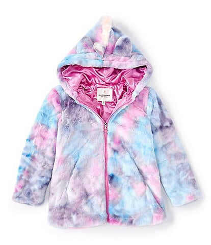 Urban Republic Big Girls 7-12 Unicorn Faux-Fur Hooded Jacket