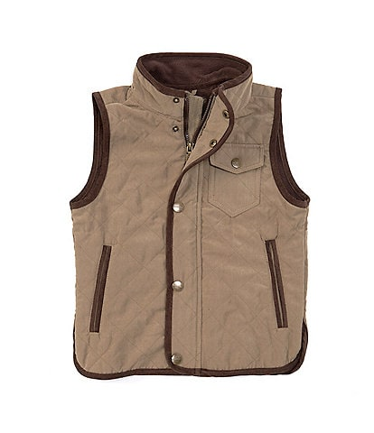 Urban Republic Little Boys 2T-7 Quilted Snap Front Vest