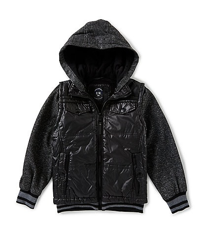 Urban Republic Little Boys 4-7 Melange Sleeve Puffer Jacket