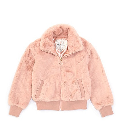 Urban Republic Little Girls 2T-6X Long-Sleeve Faux-Fur Bomber Jacket