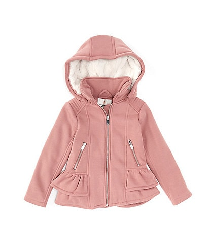 Urban Republic Little Girls 4-6X Ruffle-Trim Mid-Weight Hooded Jacket