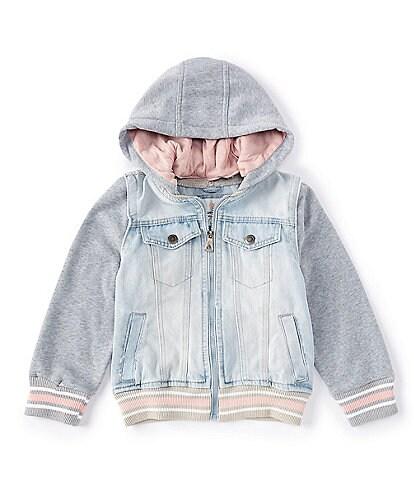 Urban Republic Little Girls 4-6X Denim Bomber Two-Fer Jacket