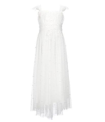 Us Angels Big Girls 7-16 Flower-Appliqued Long Dress
