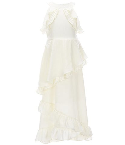 Us Angels Big Girls 7-16 Ruffle-Trim Chiffon Maxi Dress