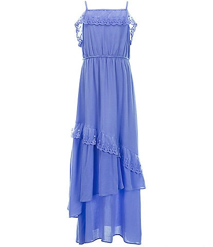 Us Angels Big Girls 7-16 Ruffle-Trim Maxi Dress