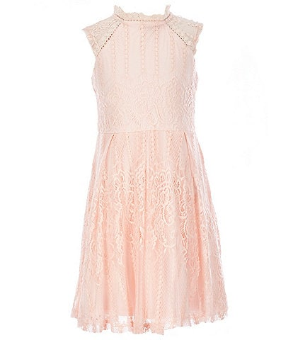 Us Angels Blush by Us Angels Big Girls 7-16 Lace Fit-And-Flare Dress