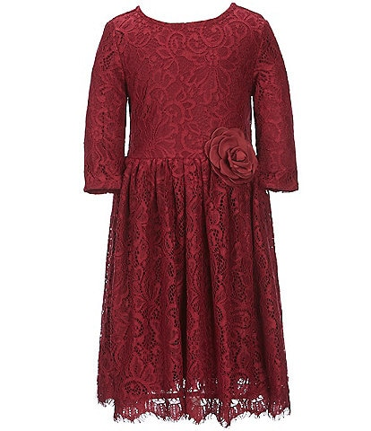 Us Angels Little Girls 2T-6X Lace Fit-And-Flare Dress