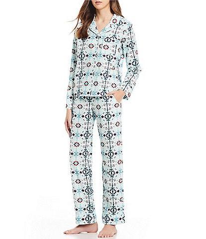 VAN WINKLE & CO. Moroccan Tile Print Portuguese Flannel Pajamas