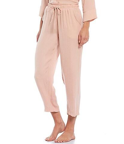 VAN WINKLE & CO. Solid Woven Sleep Pants
