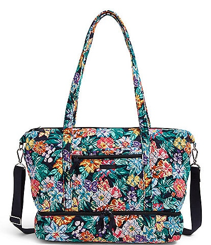 Vera Bradley Deluxe Quilted Floral Travel Tote Bag