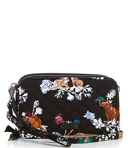 Vera Bradley Iconic All In One Quilted Merry Mischief Crossbody Bag