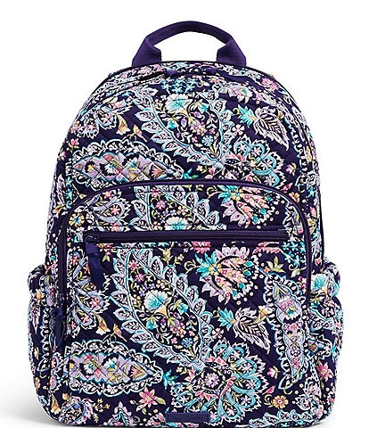 Vera Bradley Iconic Campus Trolly Sleeve Backpack