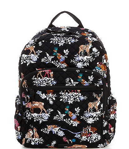 Vera Bradley Iconic Campus Merry Mischief Quilted Backpack