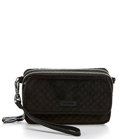 Vera Bradley Iconic Collection RFID Velvet Quilted All In One Crossbody Bag