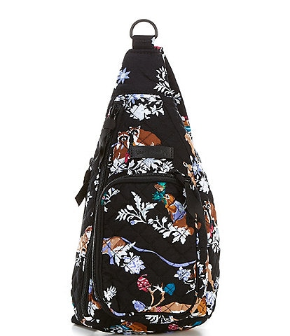 Vera Bradley Iconic Mini Merry Mischief Sling Backpack