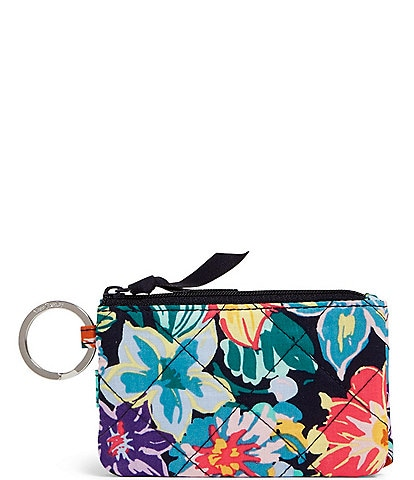 Vera Bradley Iconic RFID Deluxe Quilted Zip ID Case
