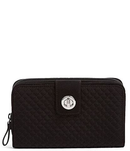 Vera Bradley Iconic RFID Turn-Lock Quilted Wallet