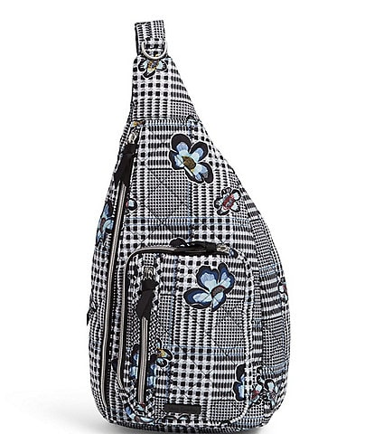 Vera Bradley Performance Twill Collection Park Stripe Sling Backpack