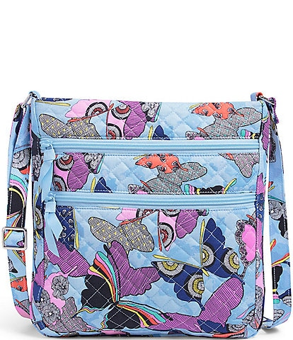 Vera Bradley Iconic Triple Zip Hipster Quilted Floral Crossbody Bag