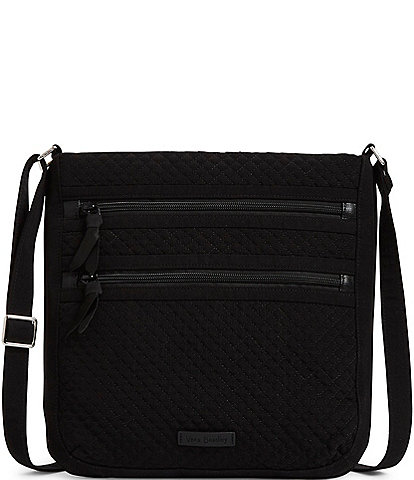 Vera Bradley Microfiber Collection Triple Zip Hipster Crossbody Bag