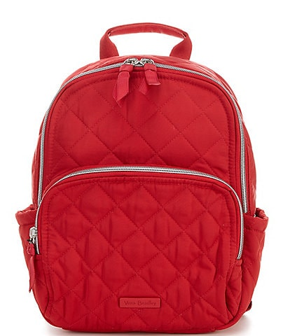 Vera Bradley Performance Twill Collection Small Quilted Cardinal Red Backpack