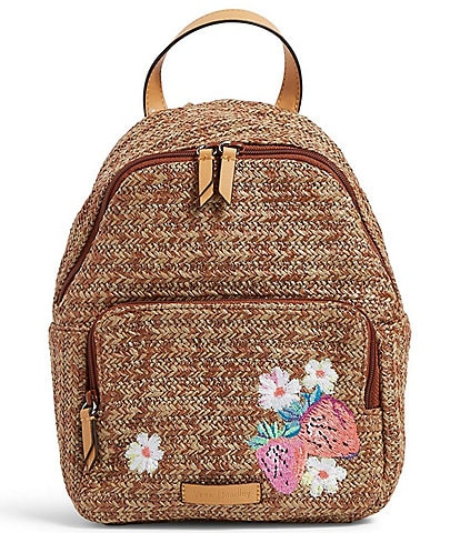 Vera Bradley Straw Double Compartment Backpack