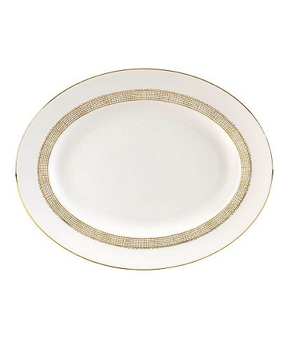 Vera Wang by Wedgwood Gilded Weave Oval Platter