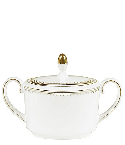 Vera Wang by Wedgwood Golden Grosgrain Covered Imperial Sugar Bowl
