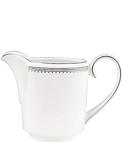 Vera Wang by Wedgwood Grosgrain Striped & Dotted Platinum Bone China Creamer