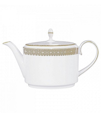 Vera Wang by Wedgwood Vera Lace Gold Bone China Teapot