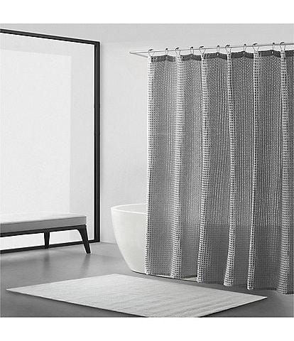 Vera Wang Marled Waffle Shower Curtain
