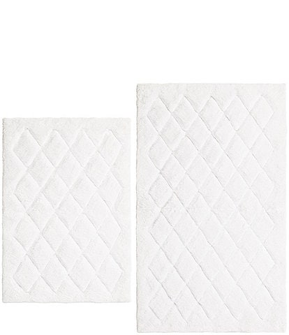 Vera Wang Marquis Diamond Bath Rug 2-Piece Set